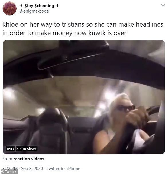 Desperate:One short video of a blonde woman driving in a tunnel seemed to reference Khloé's DUI, as well as the news