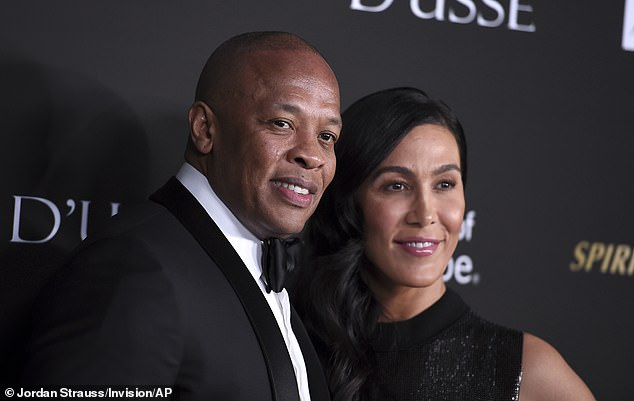 Irreconcilable differences: Dre and Young, shown in October 2018 in Santa Monica, California, were married in 1996 and she filed for divorce in June citing irreconcilable differences