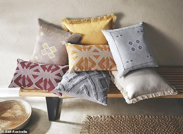 Other items set to go on sale include textured cushions