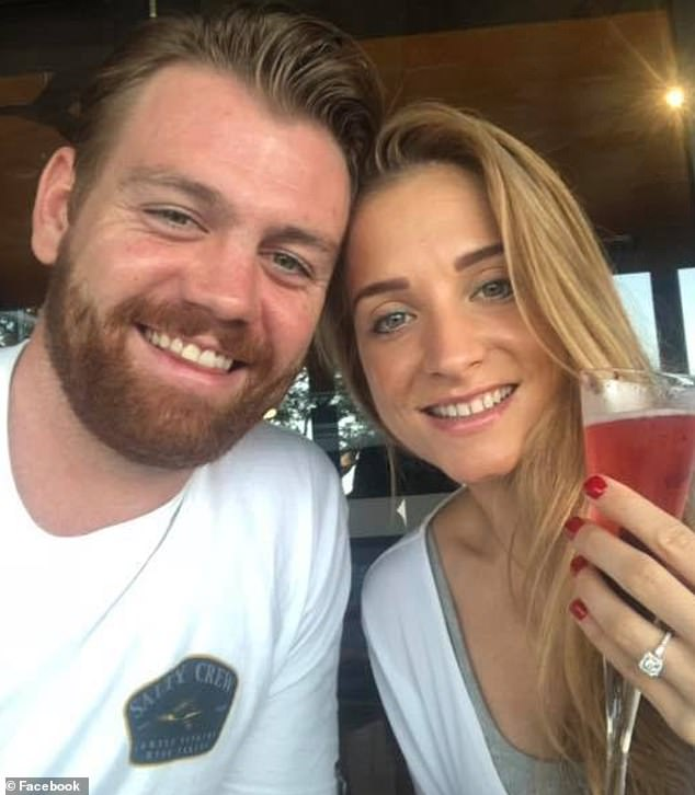 Nicole Hendrie (right), pictured with fiance and co-accused Lewis Daley escaped conviction