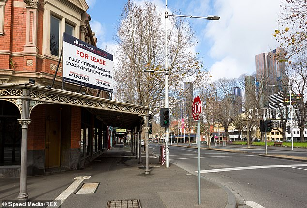 Victorian hospitality staff have struggled to remain hopeful about their job prospects during Melbourne's draconian COVID-19 lockdown (a venue for lease in Melbourne's CBD pictured)