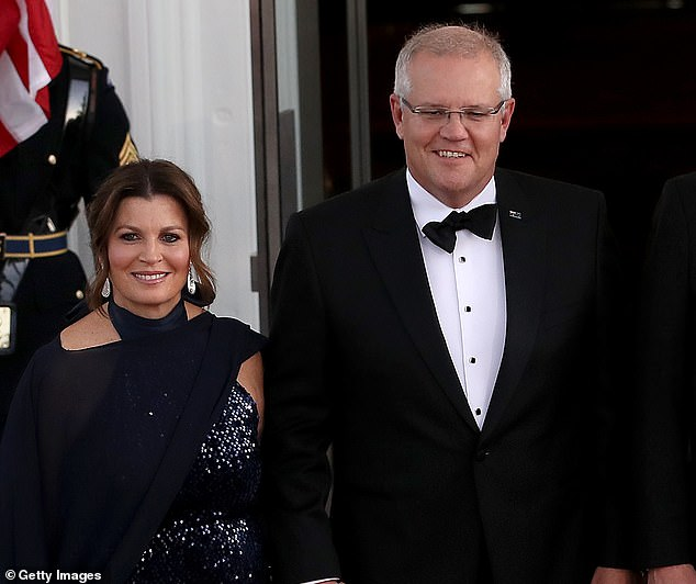 Prime Minister Scott Morrison (pictured with his wife Jenny) has come under fire for 'putting all of Australia's eggs in one basket' with the Oxford vaccine. He also also agreed to buy a vaccine from UQ - but it only started human trials in July
