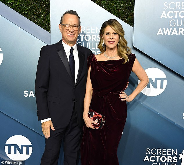 Tom Hanks and his wife Rita Wilson (pictured) tested positive for COVID-19 and underwent 14 days of self-isolation on the Gold Coast in March, during the filming of Baz Lurhmann's Elvis Presley biopic