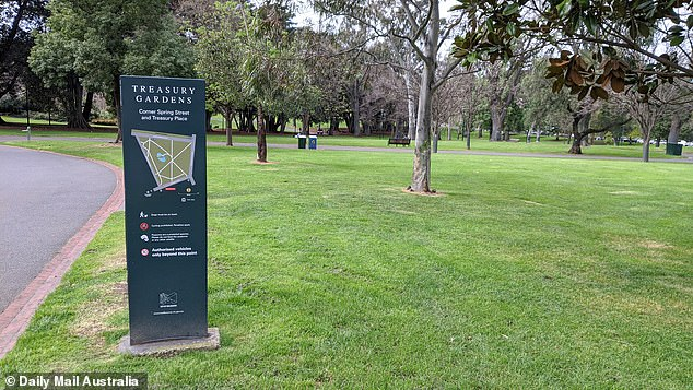 Treasury Gardens on Spring Street offers some respite for cooped up ADF personnel in Melbourne