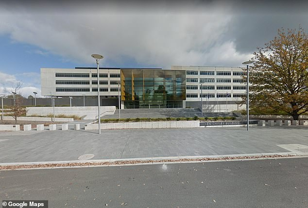 A man has been arrested and buildings have been evacuated following an 'incident' at the ASIO headquarters (pictured) in Canberra