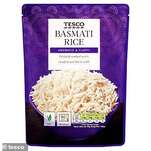 The microwavable rice will be$1.90 (pictured)