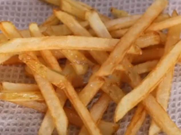 Rob Nixon, from Perth, Western Australia, is the brains behind Nicko's Kitchen, which specialises in homemade versions of iconic fast food dishes (his chips pictured)