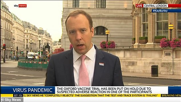 Health Secretary Matt Hancock insisted he was comfortable with the move in the circumstances, saying the government's 'primary' duty was to protect the Peace Process in Northern Ireland - which is also underpinned by a treaty