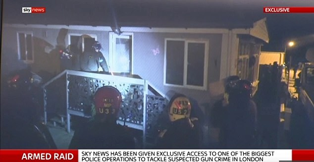 Footage shows the massive police raid at a traveller site in Orpington, south-east London