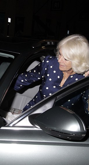 Camilla spent the evening dining with friends