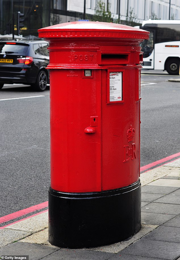 The postal service has seen a 1.1billion drop in demand for letters year-on-year in the five months to the end of August (file image)