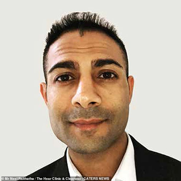 Neel Raithatha, known as the Wax Whisperer, said he was 'shocked' and felt 'slightly nauseous' at the amount of earwax and dead skin that had built up in the ear