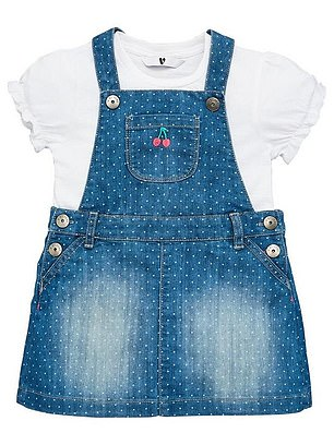 V by Very Girls T-shirt and Spotted Denim Dress Set (was from £20, now from £14) at Very