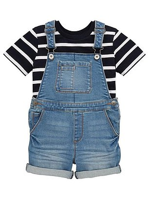 V by Very Boys Tee And Denim Dungaree Set (was from £20, now from £13) at Very