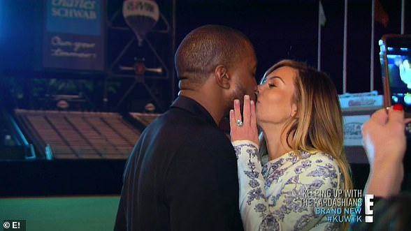Season eight:Kim has daughter North with Kanye West while he proposes in season nine