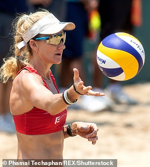 Olympic beach volleyball star Kerri Walsh Jennings has apologized after she sparked backlash for going shopping without a face mask in 'a little exercise in being brave'