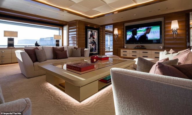 Impressive: There is plenty to do and see onboard the yacht so guests will never grow tired or restless when travelling