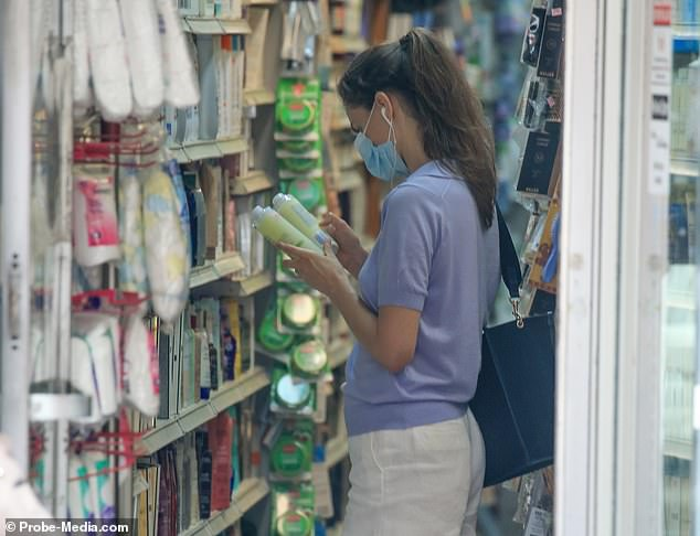 Shuliak spent close to an hour inside a nutritional health store on New York¿s Upper East Side before browsing the aisles of a nearby pharmacy and purchasing toiletries, including hair care products
