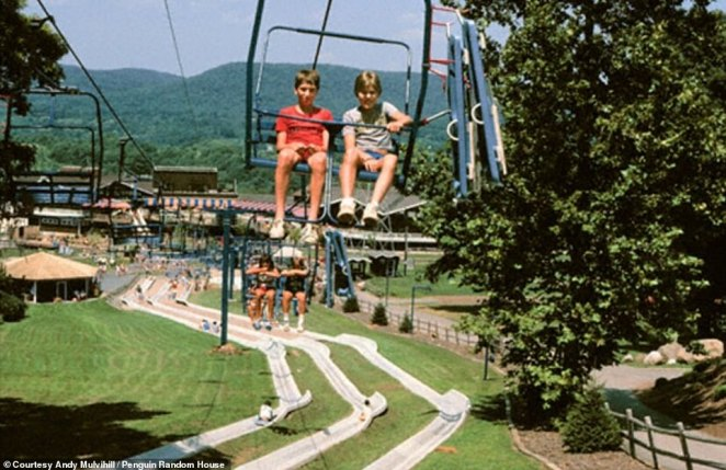 The Alpine Slide, below the chair lift in the above image, was probably the park's most dangerous ride because of the number of injuries: an average day might see anywhere from 50 to 100 while on the weekend that could double. People rode down the cement track using a sled and maneuvering with a stick that was often broken. Riders flew off the track and suffered ripped skin and broken bones. Action Park ultimately had to buy their own ambulance because the town of Vernon could no longer dedicate those it had to the frequent injuries that occurred at the park, according to the documentary