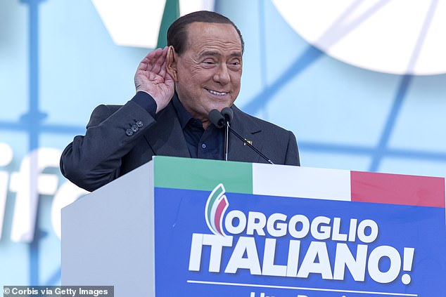 Former Italian PM Silvio Berlusconi (pictured in 2019) was admitted to hospital for coronavirus on Friday morning. He said during a phone call last night that doctors said his viral load was worse than thousands of others tested at San Raffaele Hospital in Milan