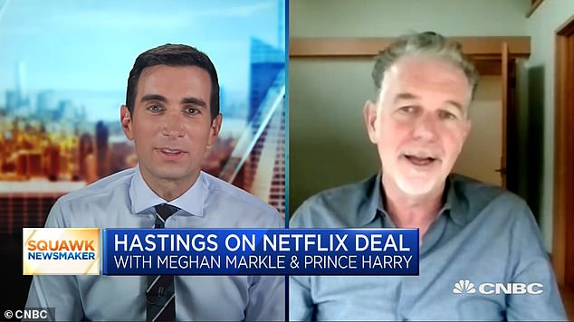 'Epic': The billionaire businessman shared his 'excitement' over the deal - noting that he believes the couple signed with Netflix because 'we put together the best complete package'