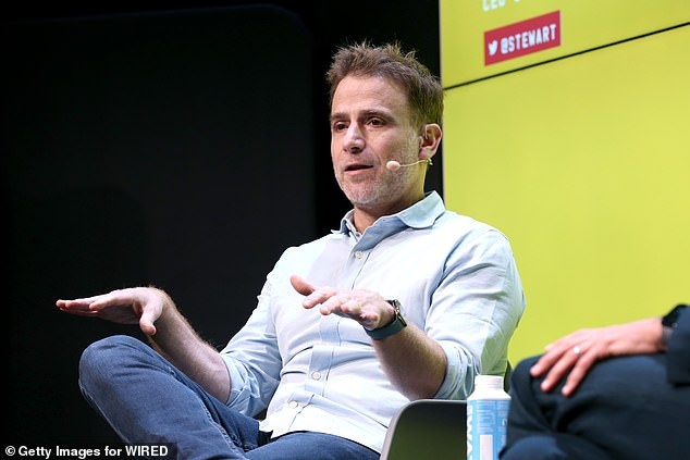 Stewart Butterfield, the CEO of Slack, and his partner, Away CEO Jen Rubio pledged hundreds of thousands of dollars in support of Black Lives Matter and other racial justice groups. Butterfield is seen above in San Francisco in November 2019