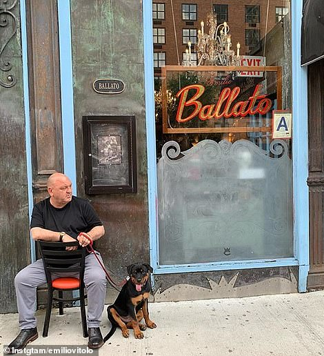 Vitolo's father, Emilio Vitolo, is known to sit outside or at the front of his famous Nolita restaurant, quietly determining who gets a seat and in which order