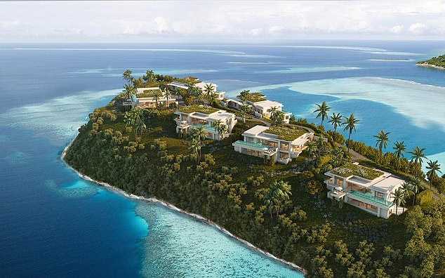 Mohammed Asaria, whose Range Developments is developing a new luxury Six Senses resort in Grenada (pictured), said Americans want to 'hide it out' from the election