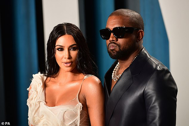 Kim was said to have 'broken the internet' when a magazine photoshoot of her bare bottom went viral in 2014. Pictured: Kim and her husband Kanye West