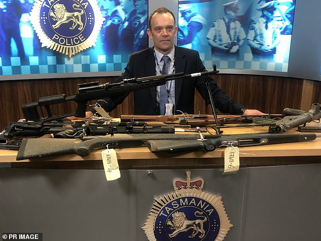 A World War II submachine gun is among dozens of illegal firearms seized by police in Tasmania as part of a crackdown on firearm trafficking
