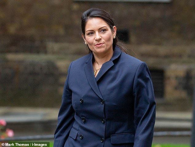 Home Secretary Priti Patel said: 'The UK is a safer place without these criminals. The message from these deportations is clear. If you come to this country and abuse our hospitality we will deport you'