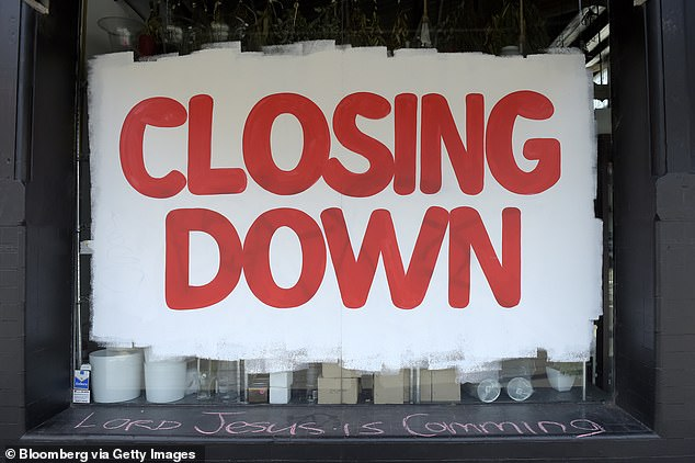 The big banks in September are also auditing borrowers to see if they can start repaying their loans after six-month mortgage repayment holidays - as unemployment hits double-digit figures for the first time since 1994. Pictured is a homewares store closing down in Melbourne in September 2020