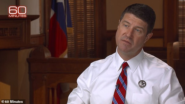 Holland (pictured) told CBS News that he and FBI agent Christie Palazzolo spent 48 days straight interviewing Little, who eventually started to talk about killing three people in Texas