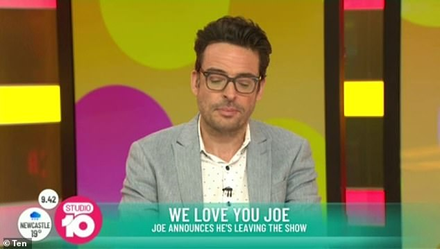 'My time here has been wonderful': After seven years of service, Studio 10 panellist Joe Hildebrand has announced he is quitting the show live on air