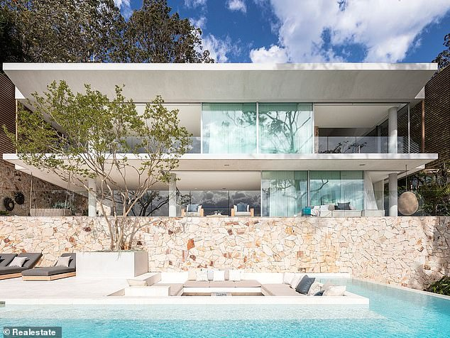Casa Paloma (pictured) in Sydney Northern Beaches was bought by Mike Cannon-Brookes
