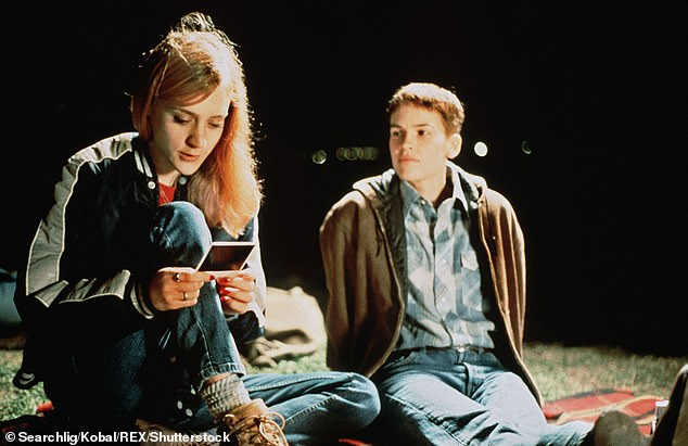 Top award:Swank won the Academy Award for Best Actress for her portrayal of trans man Brandon Teena in the 1999 biopic Boys Don't Cry, shown with Chloe Sevigny in a still
