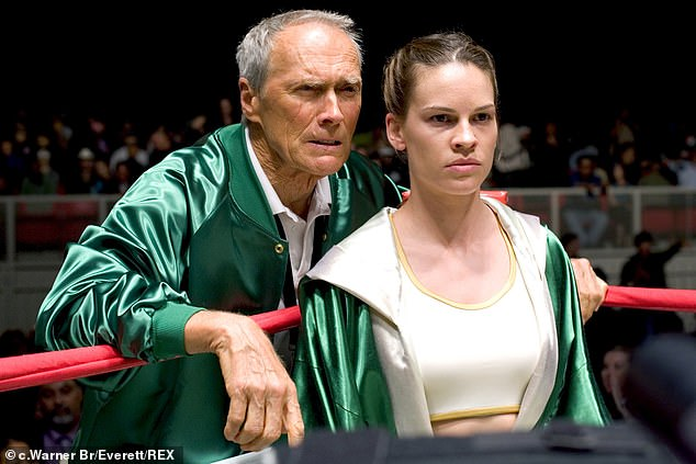 Sports drama: The actress won her second Oscar for Best Actress in the 2004 sports drama Million Dollar Baby with Clint Eastwood