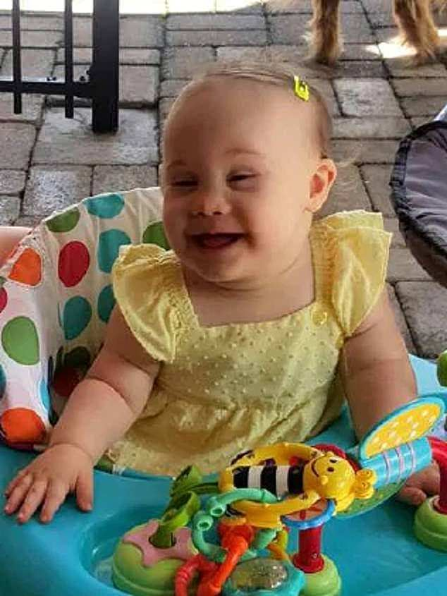 The allegedly decomposing and malnourished body of Willow Dunn (pictured), a toddler with Down Syndrome, was found in her cot in a Brisbane home on May 23