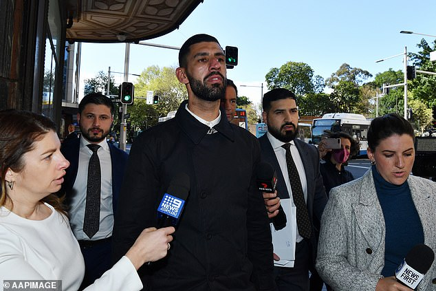 Jamal El Jaidi leaves court after a jury found him not guilty of Hawi's murder