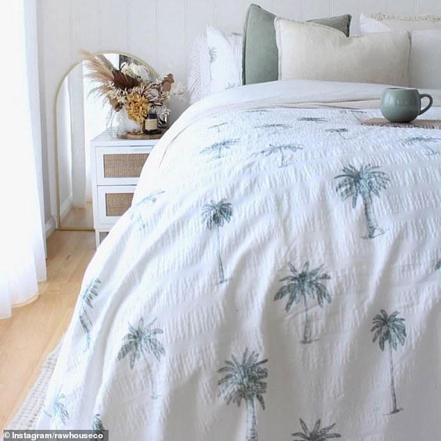 Some chose to style the bedding with thick-textured throws, faux fur cushions and green, coral or coffee colours