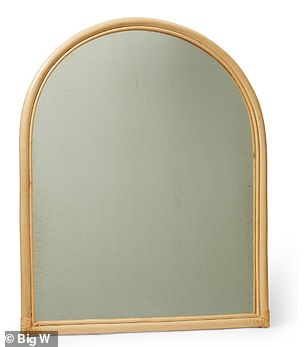 A stunning $99 rattan arch mirror (pictured) is also available