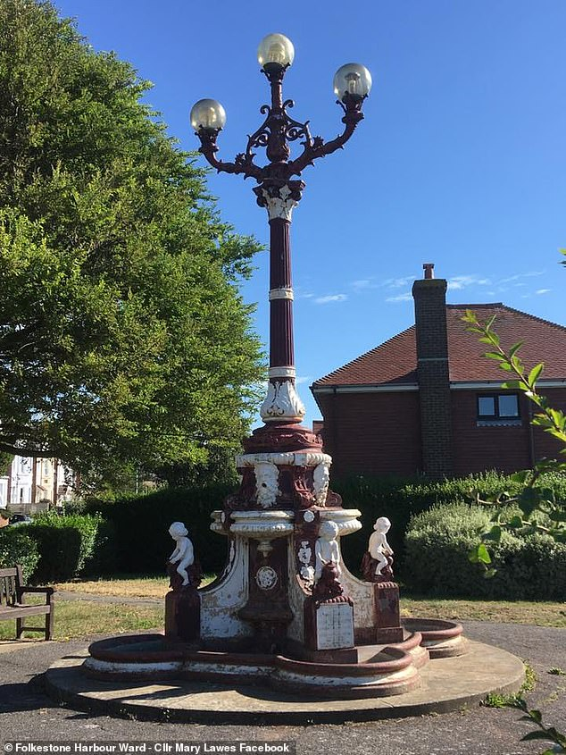 The fountain, which was built in 1897, originally sat on The Leas promenade but was moved in 1922. Bob fears the council want to move it again to a 'monstrosity' seafront development'