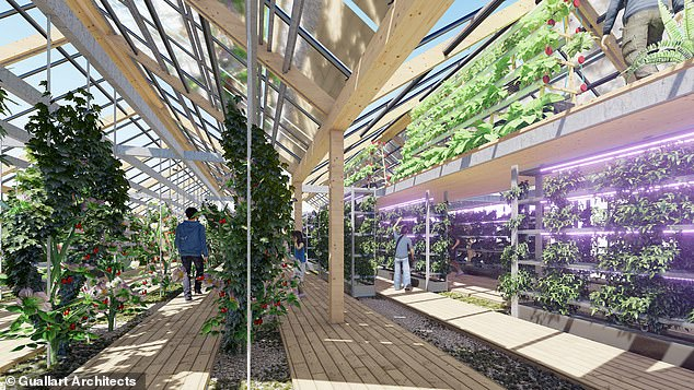 The futuristic community will be equipped with state-of-the-art facilities,such as larger and drone-friendly balconies, rooftop farms, shared 3-D printers andrenewable energy systems