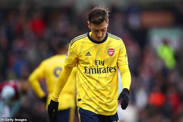 Arteta said in July that Ozil was left in his 3-4-3 formation for 'pure football reasons'