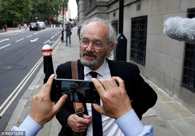 WikiLeaks founder Julian Assange's father John Shipton spoke to reporters outside the Old Bailey in London yesterday