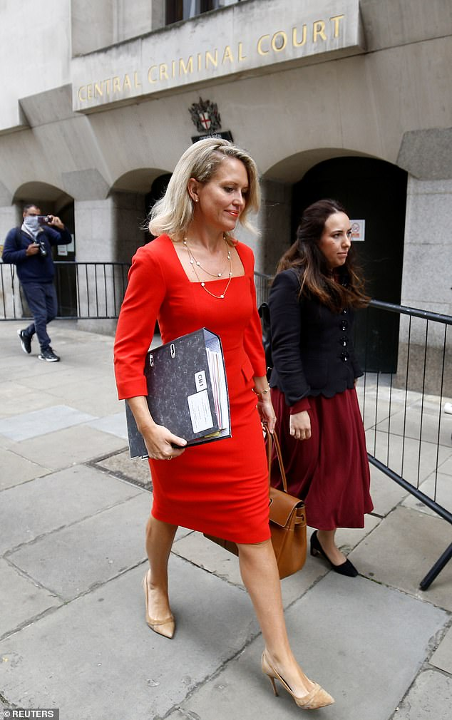 Washington DC-based attorney Eric Lewis was due to testify today but District Judge Vanessa Baraitser excused him and called the hearing instead. Pictured, Assange's partner Stella Moris and Assange's lawyer arriving at the Old Bailey yesterday