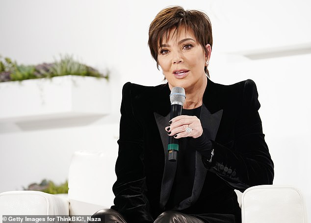 'It hasn't hit me yet': Kris Jenner gets emotional with Ryan Seacrest talking about ending Keeping Up with the Kardashians on Wednesday (pictured above in January this year)