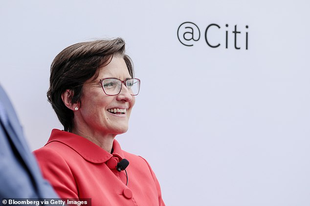 Citigroup has become the first big Wall Street bank to appoint a female CEO as its retail banking chief Jane Fraser (pictured) takes over from Michael Corbat, who said only last year that he would not be replaced by a woman