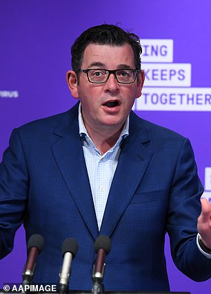 The man'sdeath was announced by Victoria Premier Daniel Andrews (pictured) on August 14,alongside 13 others aged in their 80s and 90s