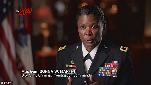 'The media broadcast was really kind of what we believe to be the tipping point for Spc. Robinson to flee,'Maj. Gen. Donna Martin, the Army's provost marshal, who leads the Army's Criminal Investigation Command, said. She added an investigation found Robinson did not sexually harass Guillen
